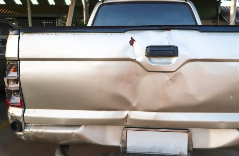 Dented Truck In Wheaton, Illinois